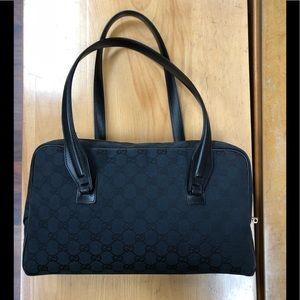 Gucci Black Monogram Rectangular Shoulder Bag